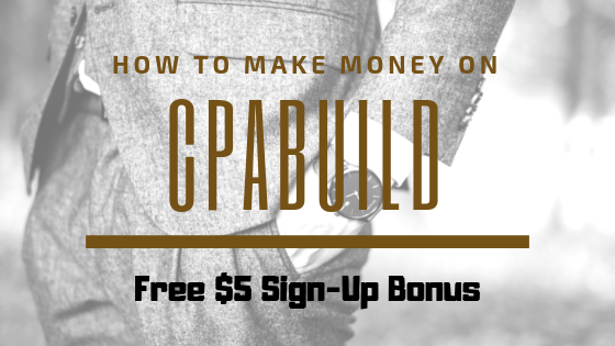CpaBuild : CPA Network with a lot choice of niche & free $5